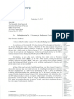 Mark Ferrario, Nevadans for Background Checks Letter to Sandoval on Question 1