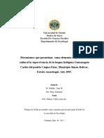 La lengua Indígena Cumanagoto Caribe del pueblo Caigua Patar