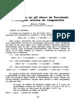 Determinação pH ótimo de floculação e dosagem mínima de coagulantes.pdf