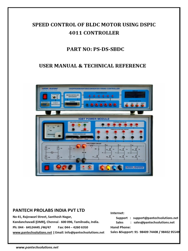 User Manual for Speed Control of Bldc Motor Using Dspic | Electric ...