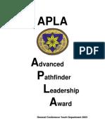 Advanced Pathfinder Leadership Award
