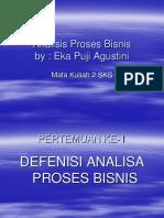Analisis Proses Bisnis Materi 1