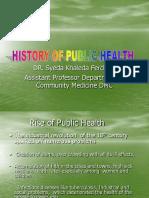 History of PH@ Community Medicine