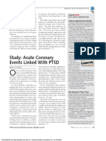 Acute Coronary Events Linked With PTSD - VOELKER, R.