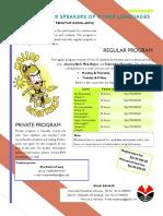 Bahasa Indonesia Bagi Penutur Asing BIPA1 brochure