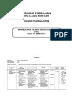 SILABUS SKI KELAS VIII MTS SEMESTER 1, 2.doc