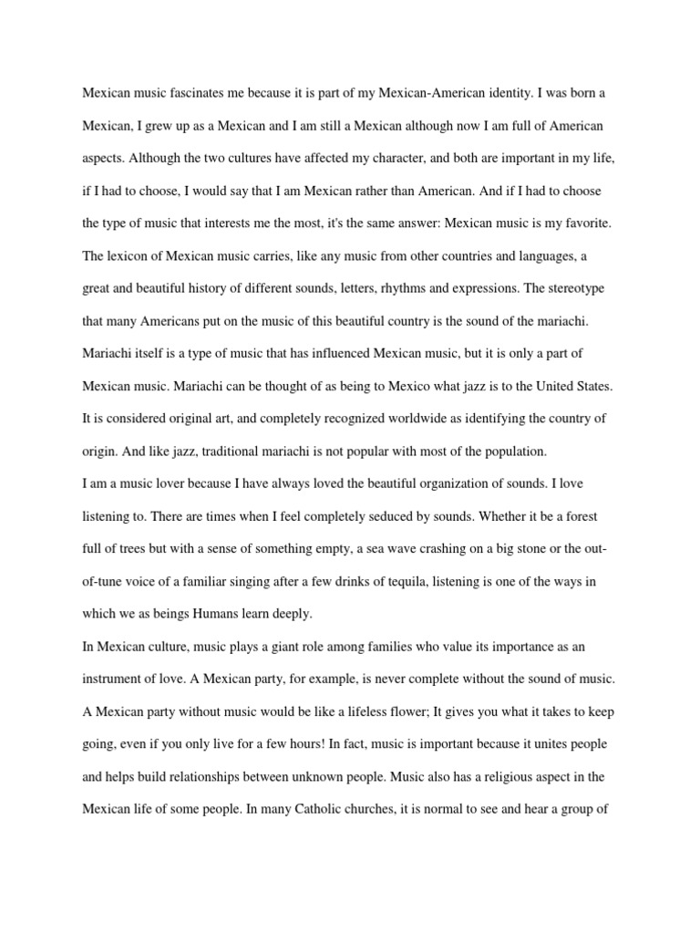 my mexican culture essay