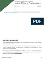 1º Módulo – Música, Ritmo e Propriedades Do Som – TeoriaDaMúsica