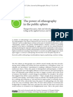 The Power of Ethnography in the Public Sphere