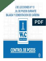 13 Control de Pozos Durante Operaciones de Bajada y Cementacion de Cañeria