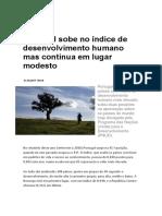 Notícias IDH Portugal