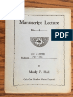 Hall, Manly P. - Manuscript Lectures No.06 - The Masters I