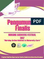 Pengumuman Finalis NSF 2017-1