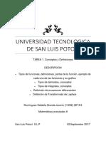 Universidad Tecnologica de San Luis Potosi Matematicas Avanzadas II