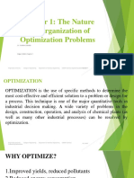 Chapter 1 the Nature and Organization of Optimization Problems
