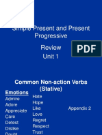 Common Non-Action Verbs