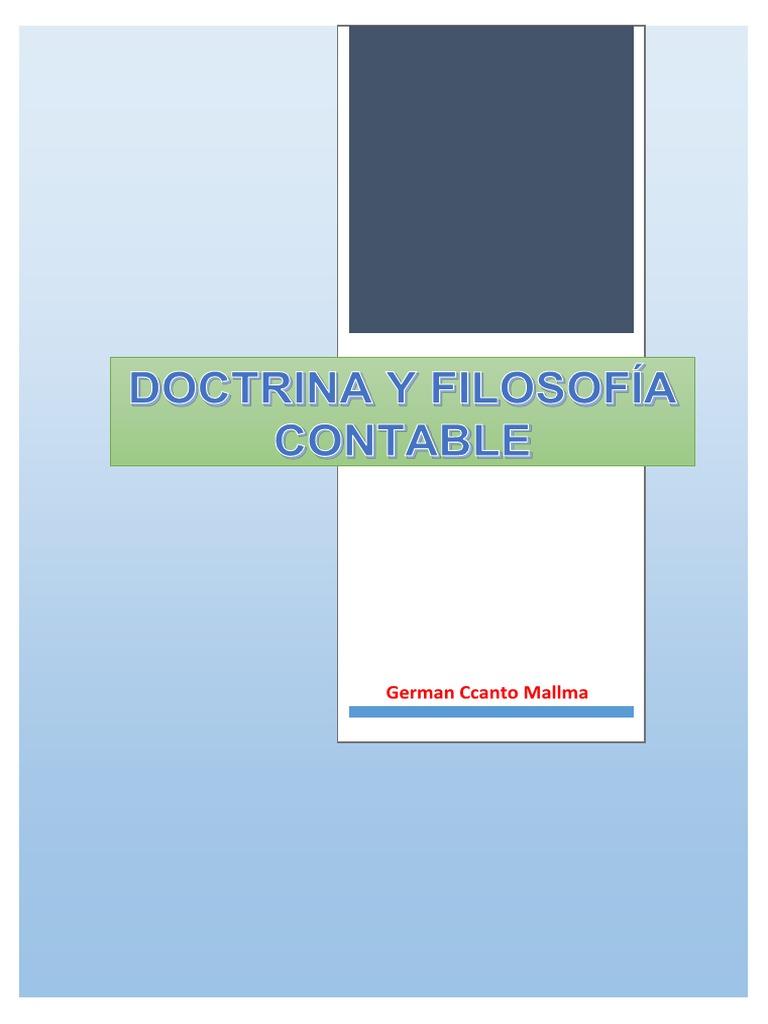 Doctrina y Filosofía Contable