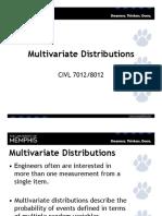 Multivariate Distributions