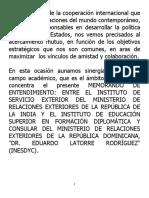 Discurso del canciller Miguel Vargas en firma de acuerdo Interinstitucional entre Inesdyc-India