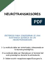 Clase 8 Neurotransmisores Psicologia 2017