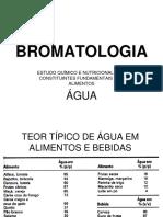 Bromatologia Aula 02 - Água