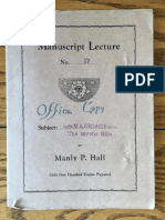 Hall, Manly P. - Manuscript Lectures No.17 - Marriage