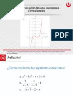 Ecuaciones Polinomiales, Racionales e Irracionales
