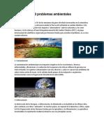 10 Problemas Ambientales