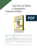 La Ciencia de Los Bebes National Geographic Channel DVDRip