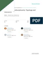 Analysing Interdisciplinariry