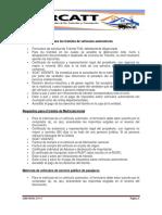 Requisitos Generales Para Los Trámites de Vehículos Automotores