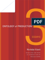 Nishida Kitaro Ontology of Production Three Essays