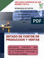 Estado de Costo y Producción de Ventas