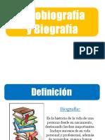 La Biografía y Autobiografía