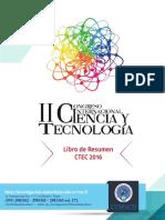 UTMACH_2016_II Congreso Internacional de Ciencia y Tecnología Libro de Resumen