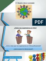 4° Básico, Nuestra vida en sociedad. Distinguir algunos actores de la organización política y democrática de Chile