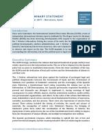 Informe preliminar de los observadores internacionales