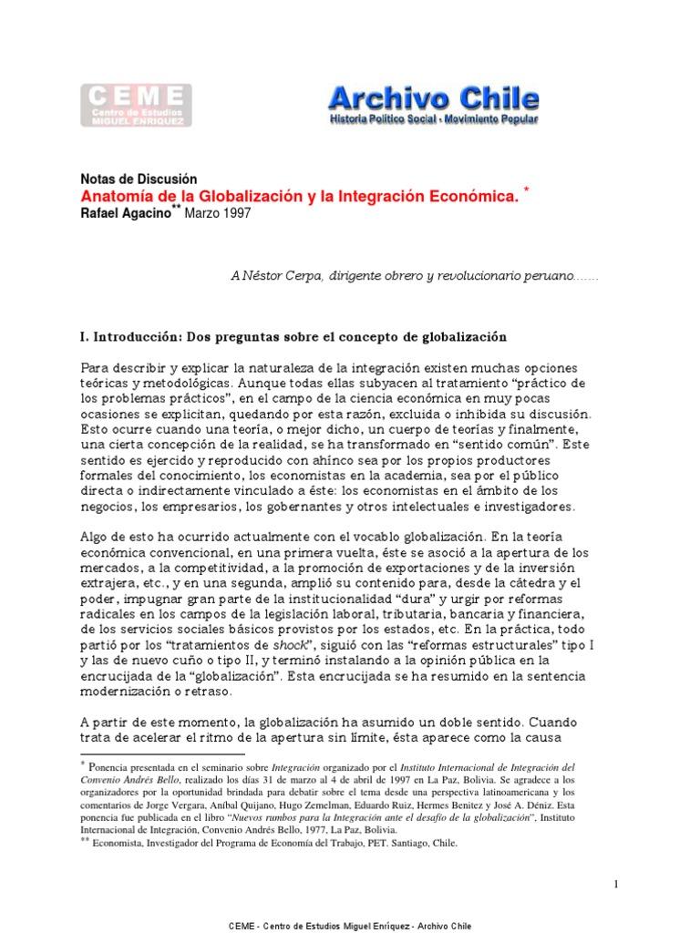 Agacino - La anatomía de la globalización y la integración económica ...