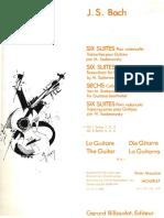 Bach 6 Suites Pour VioloncellesVol1 M.sadanowsky