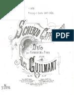 Guilmant, Opus 36, Scherzo Capriccio, Duo Pour Harmonium Et Piano, (a.G.17)