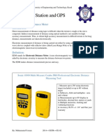 EDM, Total Station and GPS