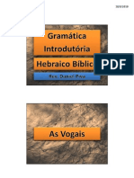 Hebraico 1 - C - PK2 - As Vogais - p.23-29