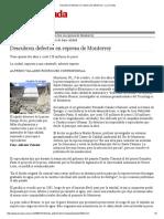Descubren Defectos en Represa de Monterrey - La Jornada