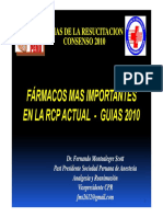 Farmacos Mas Importantes en RCP 2010