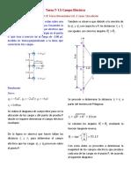 TAREA T-1.5 Campo Electrico Ejercicio 21.47 Fisica Sear 12 Ed