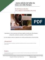 Fast Songwriting, Nueva Edición Del Taller de Creación de Canciones Con Aldo Narejos _ Escuela de Música Creativa - Adultos