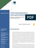Tiene Futuro El Petroleo en Venezuela