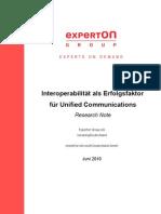 Experton Group Interoperabilitaet Als Erfolgsfaktor Fuer UC