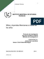 Mitos y Leyendas Mexicanas Traves Anos