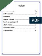 quimica general. informe